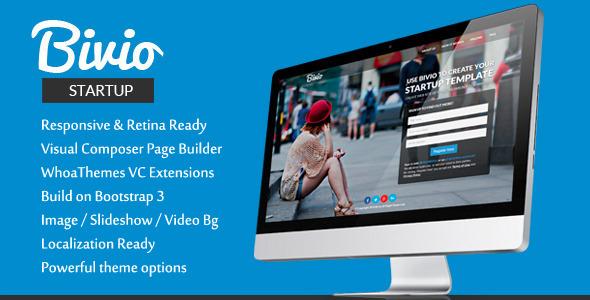 Bivio v1.2.4 – Bootstrap 3 App Landing Page WordPress Download ...