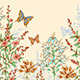 Floral Background with Butterflies - GraphicRiver Item for Sale