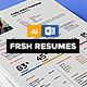Fresh Resume/CV - GraphicRiver Item for Sale