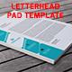 Letterhead Pad Template - GraphicRiver Item for Sale