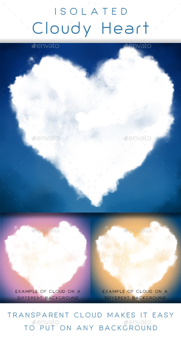 GraphicRiver Cloudy Heart 10011342