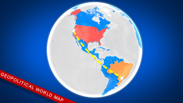 VideoHive Geopolitical World Map 10011389