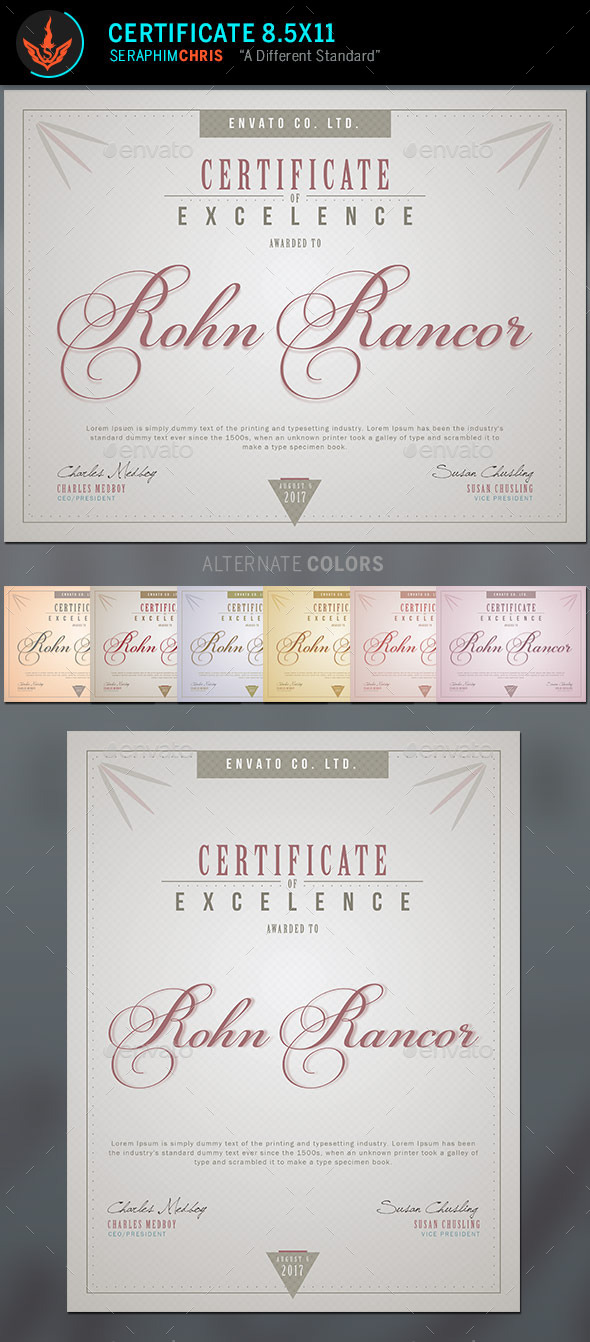 GraphicRiver Certificate Template 2 10011391