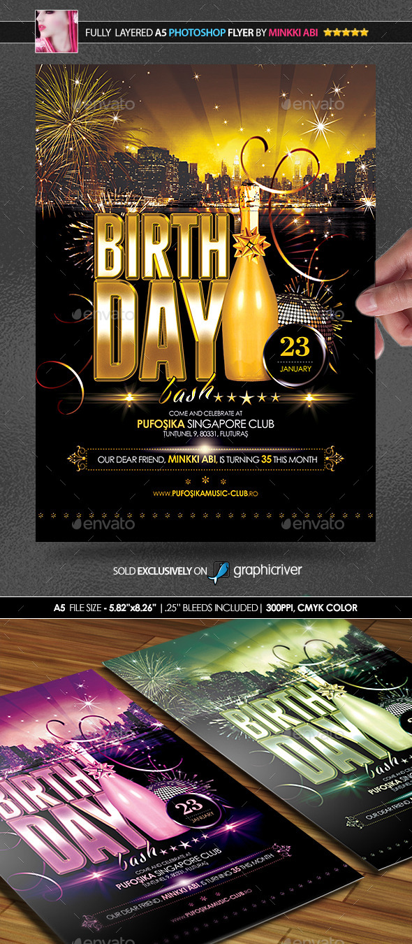 GraphicRiver Birthday Party Poster Flyer 9993512