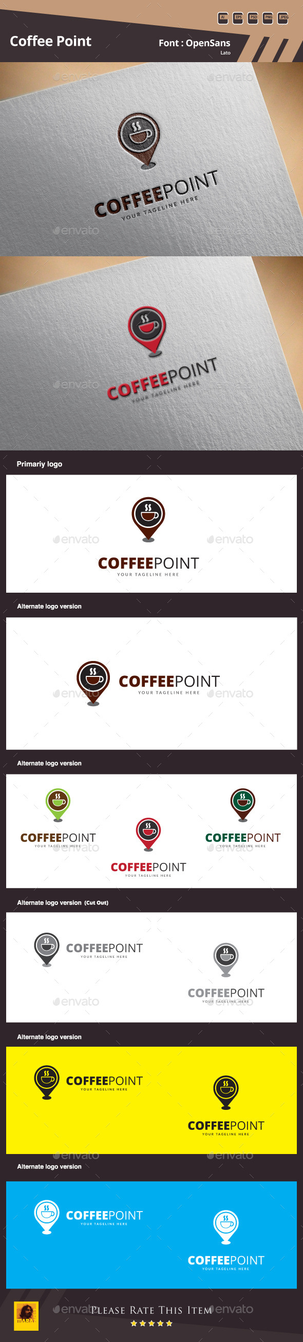 GraphicRiver Coffee Point Logo Template 10011441