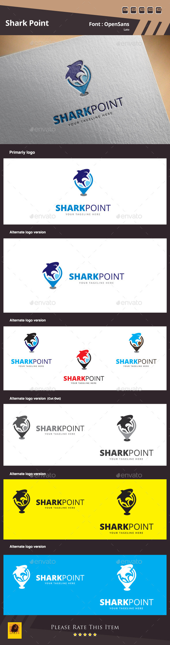 GraphicRiver Shark Point Logo Template 10011522