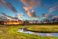 Orange Sunset over River Landscape - PhotoDune Item for Sale