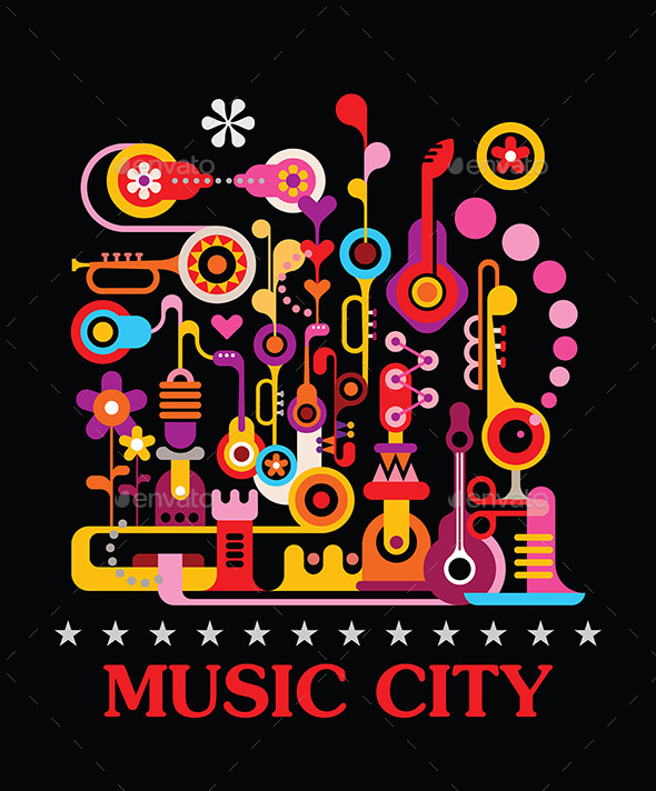GraphicRiver Music City 10011609