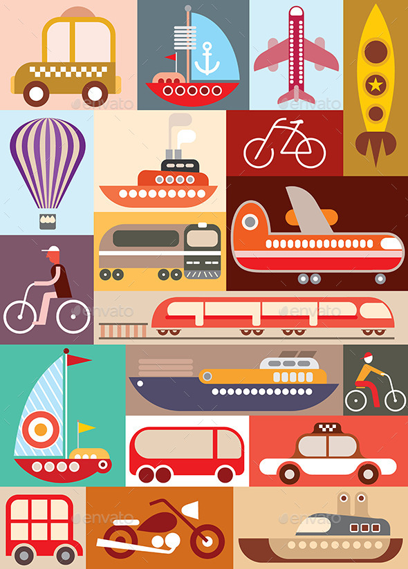 GraphicRiver Transport Illustration 10011885