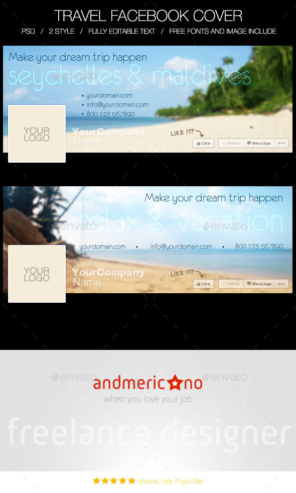 GraphicRiver Travel & Holiday Facebook Timeline Cover 10011993