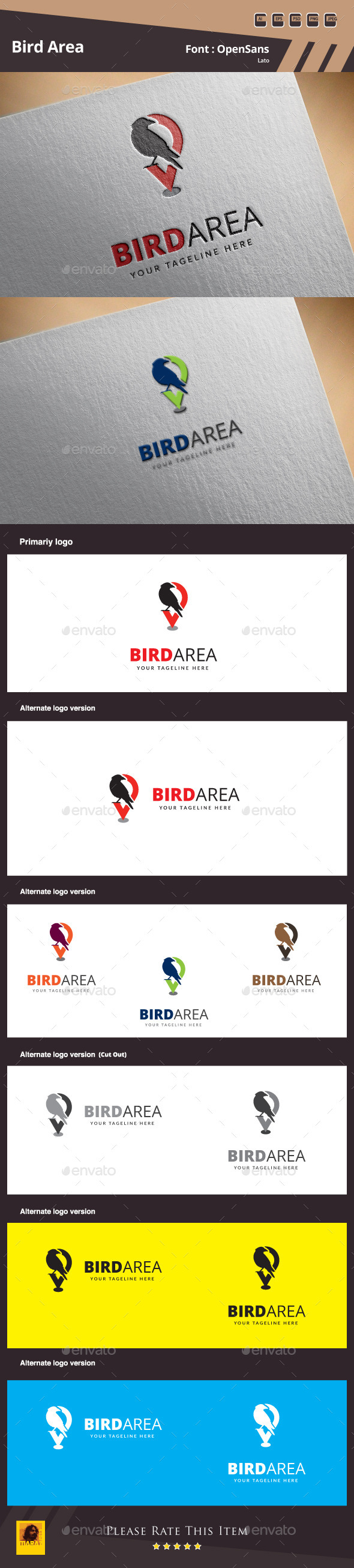 GraphicRiver Bird Area Logo Template 10012206