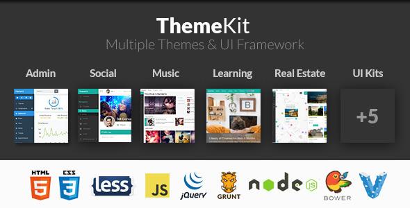 ThemeKit Admin Templates Site Templates