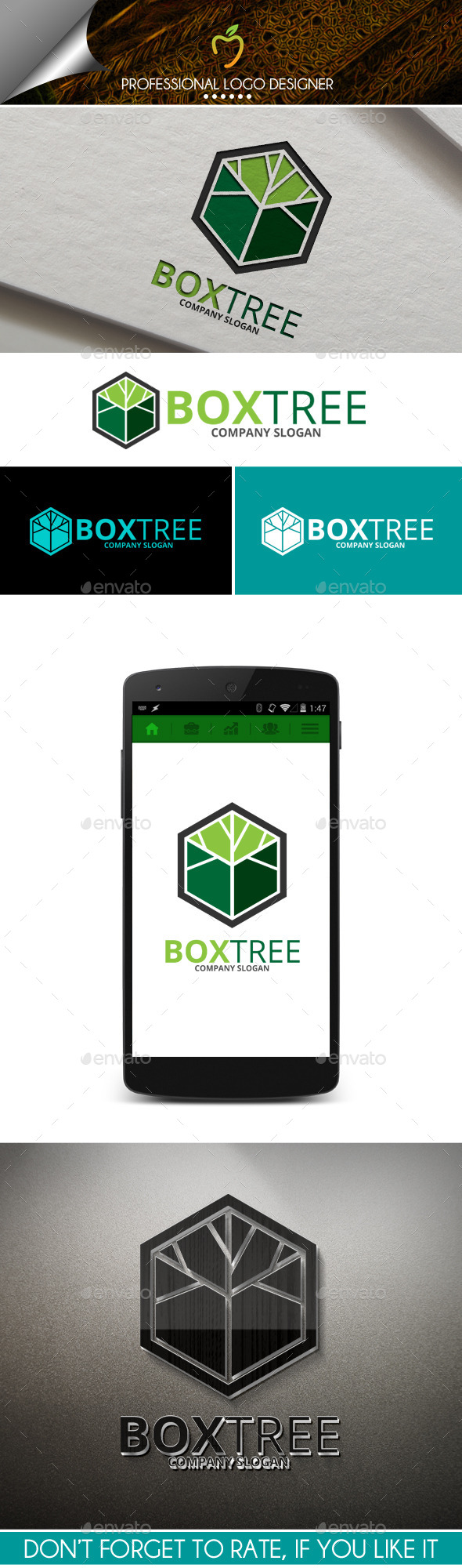 GraphicRiver Box Tree Logo 10012316