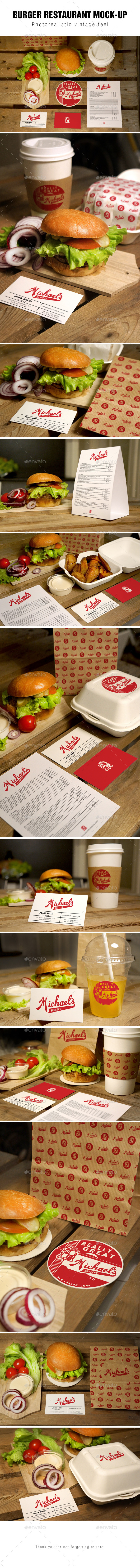 GraphicRiver Burger Restaurant Mockup 10012544
