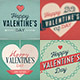 9 Retro Valentine's Day Cards/Backgrounds - GraphicRiver Item for Sale