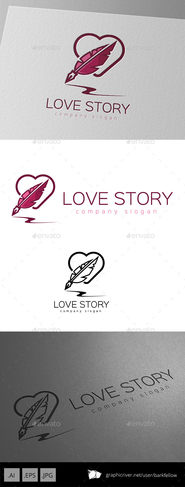 GraphicRiver Love Story Writer Logo 10012774