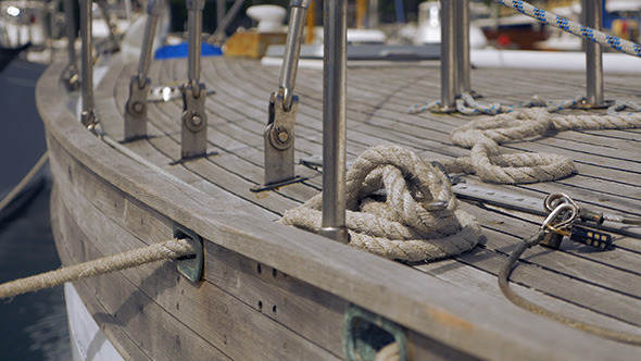 Wooden Sailing Boat Deck