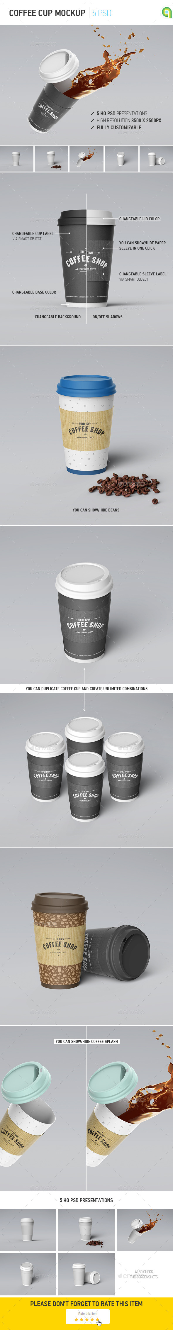 GraphicRiver Coffee Cup Mockup 10013207