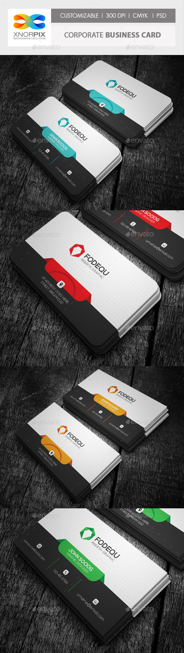GraphicRiver Corporate Business Card 10013538