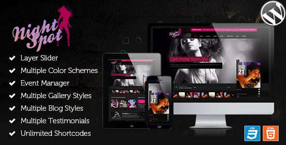 Night Spot - Night Club Responsive WordPress Theme