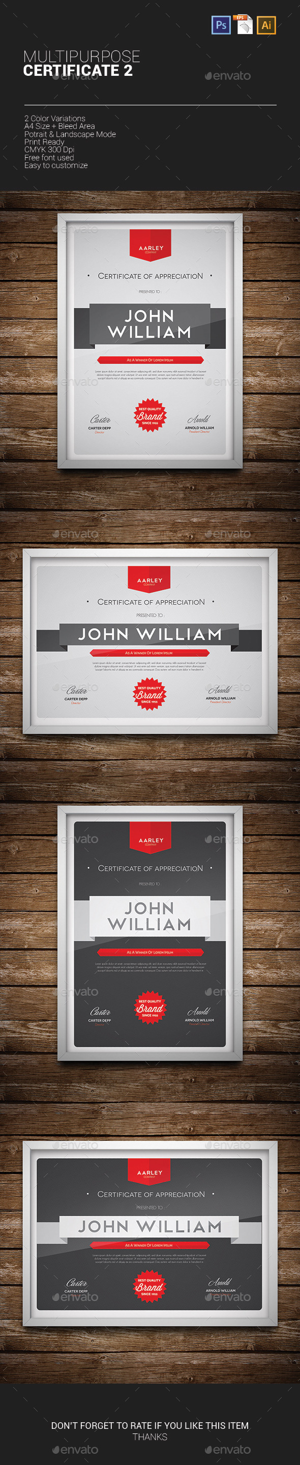 GraphicRiver Multipurpose Certificate 02 10013588