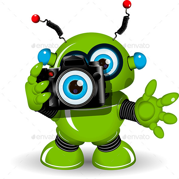 GraphicRiver Robot with Camera 10013600