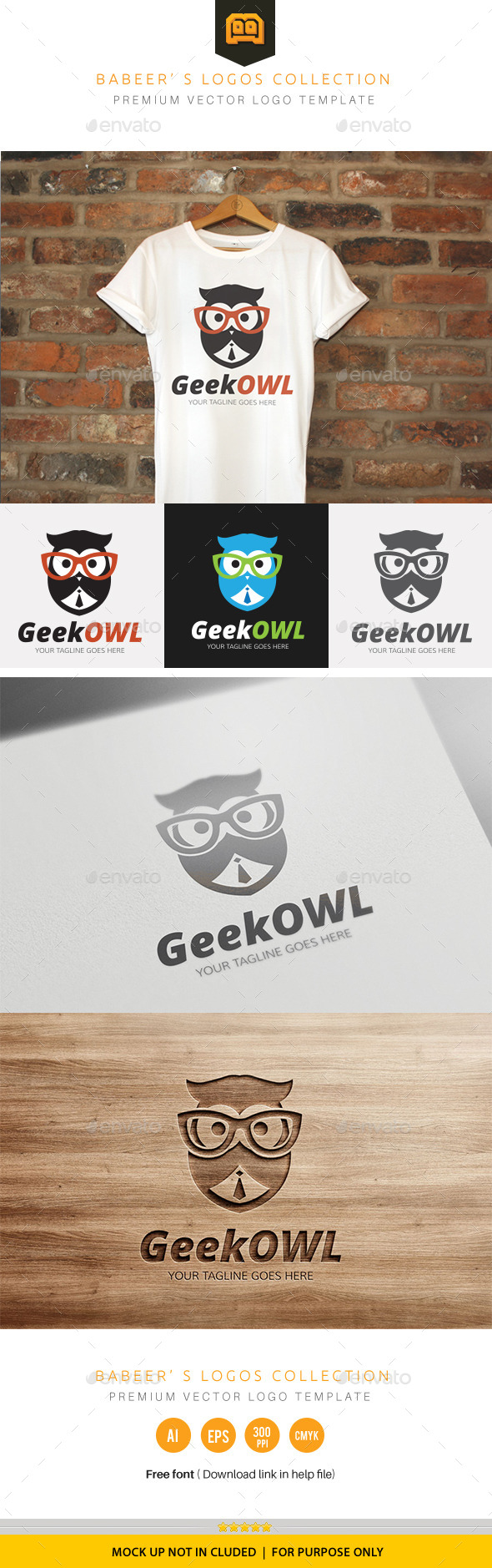 GraphicRiver Geek Owl 10014165