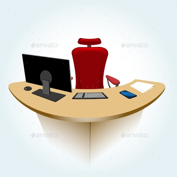 GraphicRiver Working Place 10014190