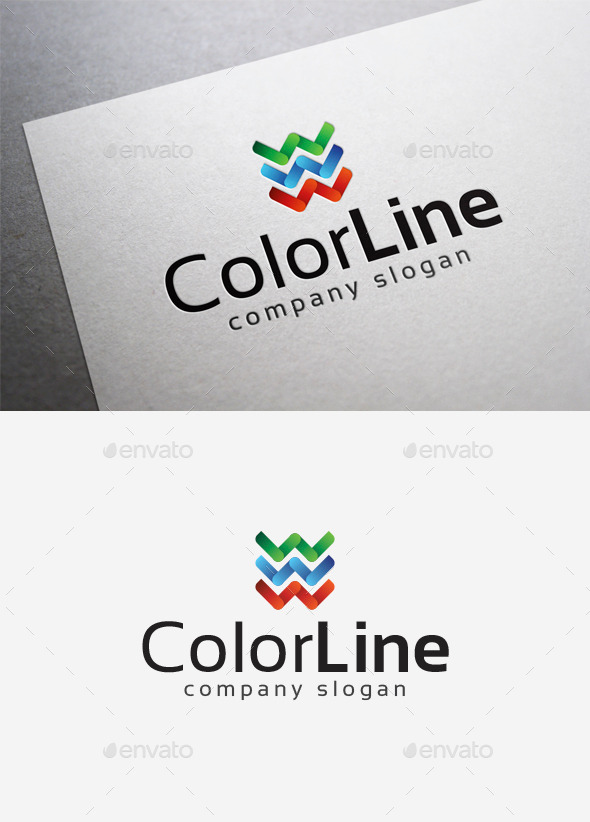 GraphicRiver Color Line Logo 10014258