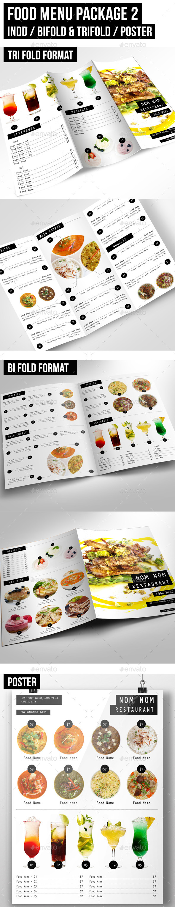 GraphicRiver Food Menu Package 2 10014272