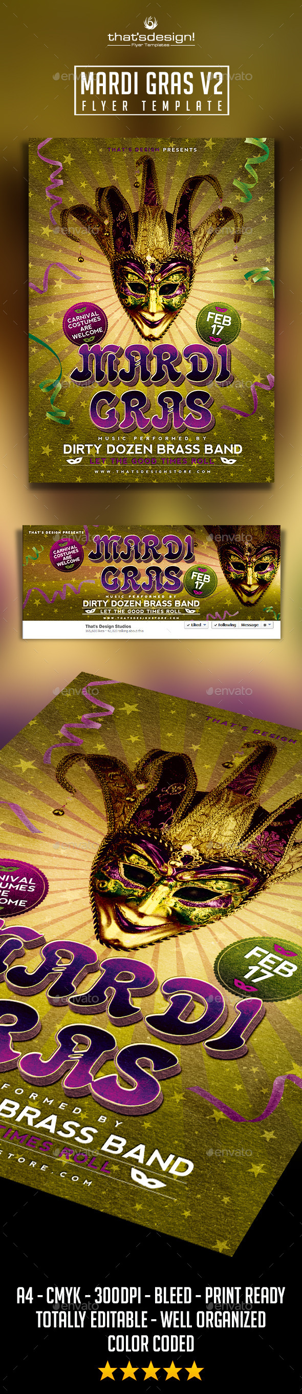 GraphicRiver Mardi Gras Flyer Template V2 9999711