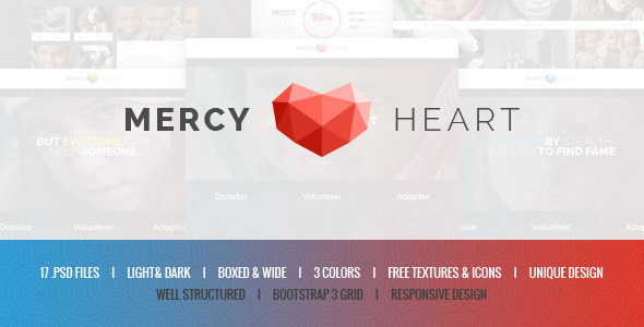 ThemeForest Mercy Heart Charity PSD Template 10014321
