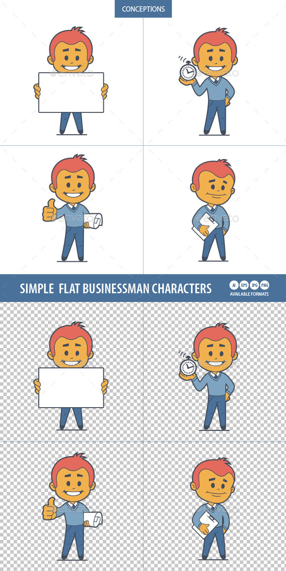 GraphicRiver Flat Characters Businessman 10014334