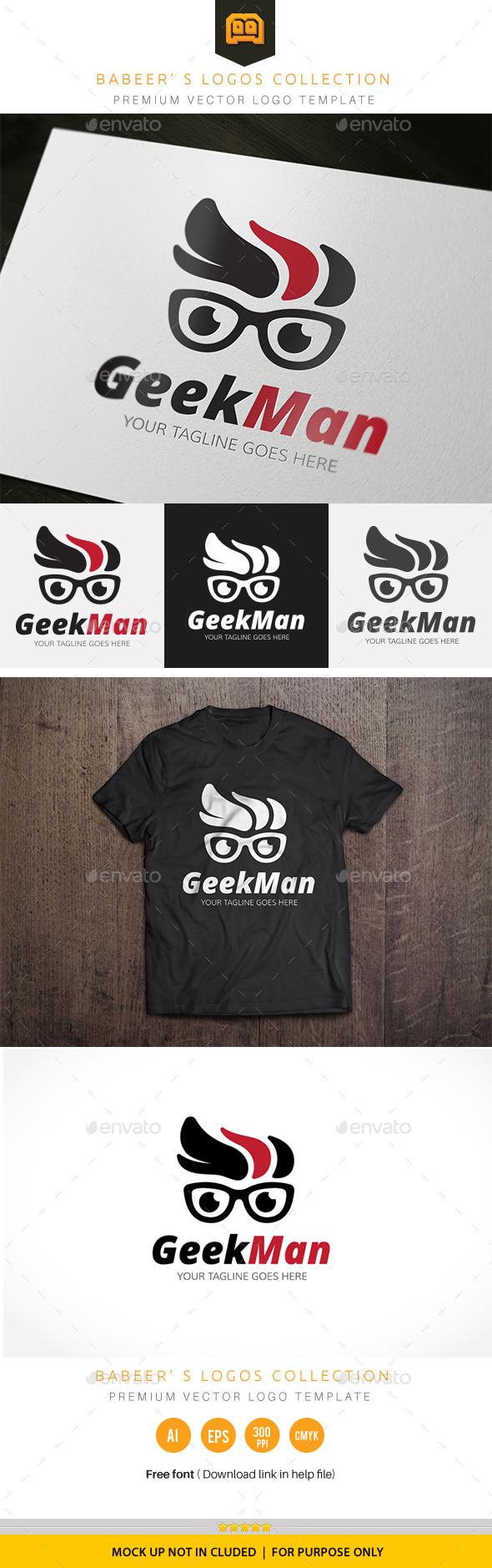 GraphicRiver Geek Man 10014403