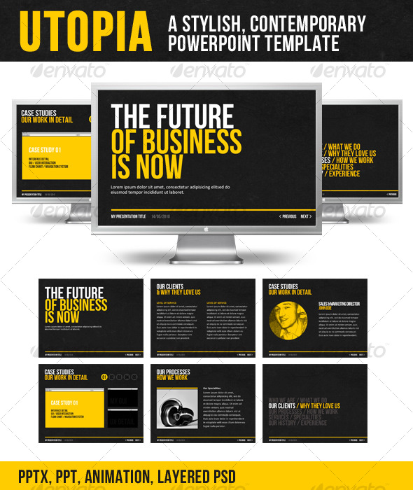 GraphicRiver Utopia PowerPoint Template 126757