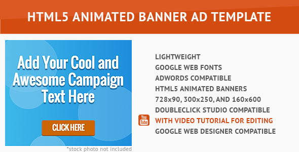 CodeCanyon Cool Advertising HTML5 Animated Banner 10014415