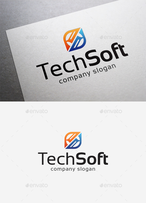 GraphicRiver Tech Soft Logo 10014435
