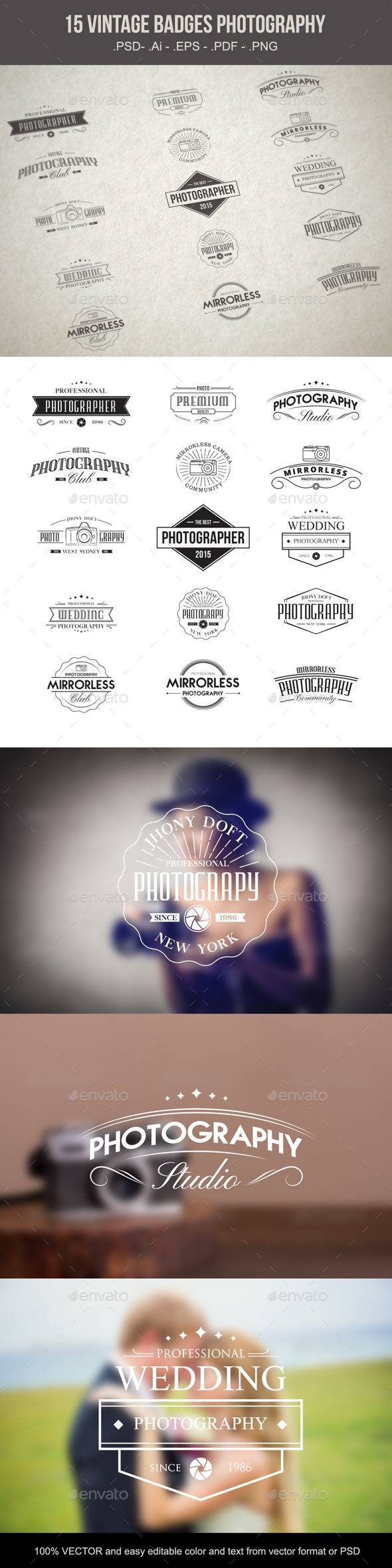 GraphicRiver Vintage Badges Photography 10014440