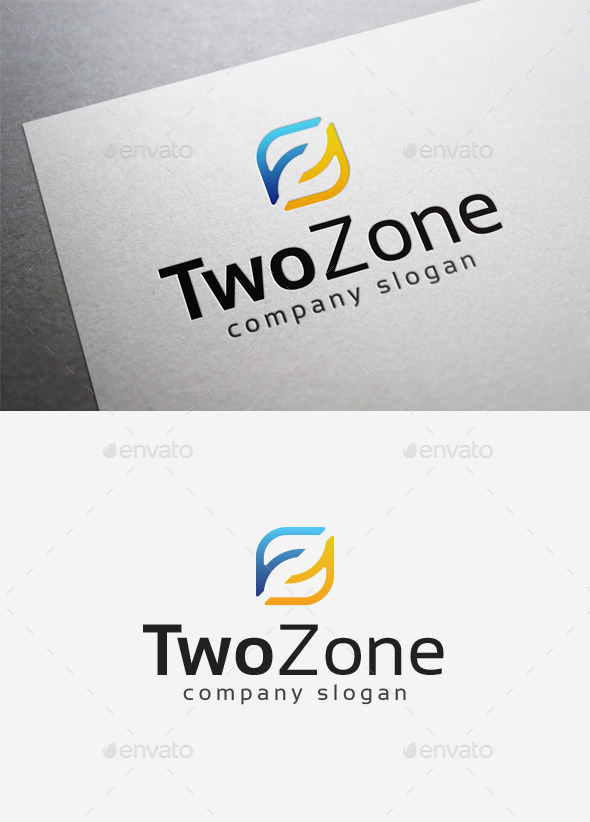 GraphicRiver Two Zone Logo 10014455