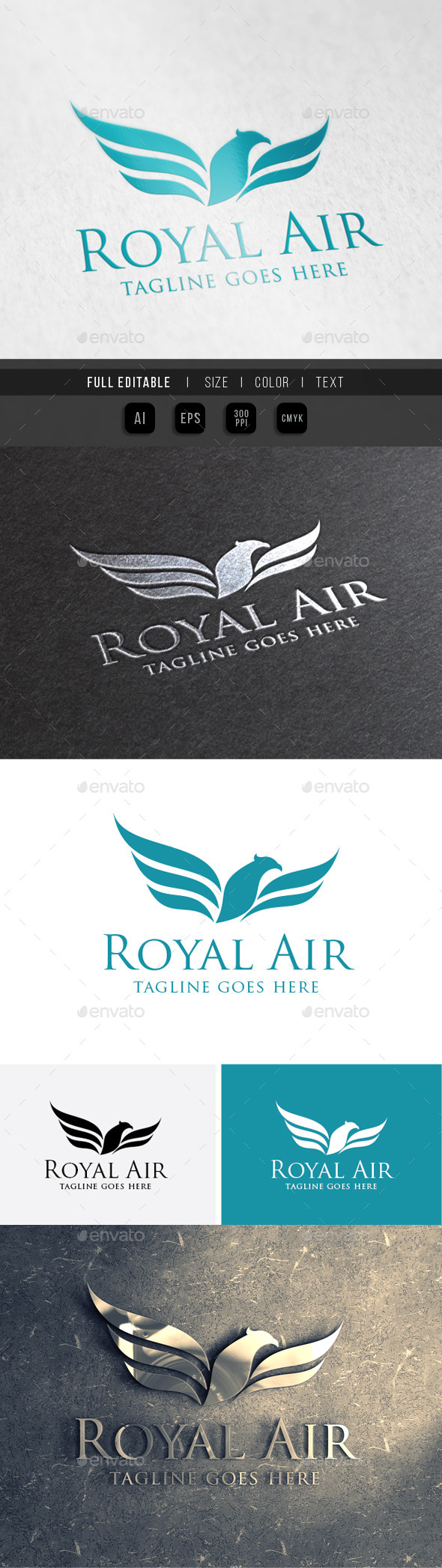 GraphicRiver Eagle King Royal Air 10014461