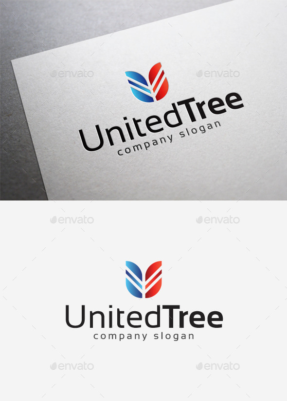 GraphicRiver United Tree Logo 10014471