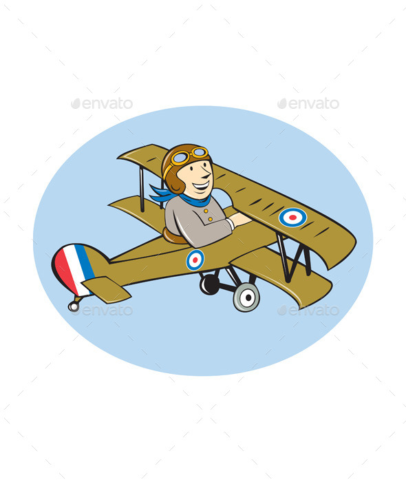 GraphicRiver Scout Airplane Cartoon 10015006