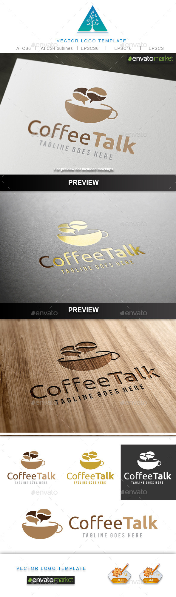 GraphicRiver Coffee Talk 2 Logo 10015274