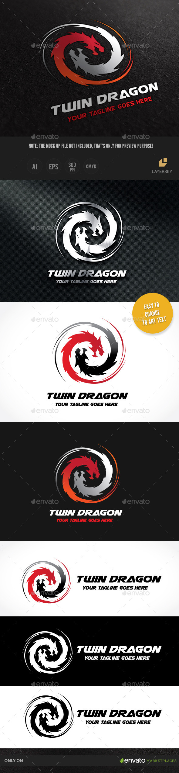GraphicRiver Dragon Twin 10015406