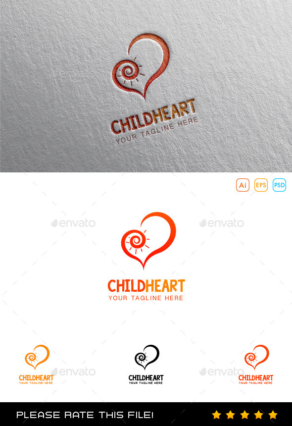 GraphicRiver Child Heart Foundation Logo 10015455