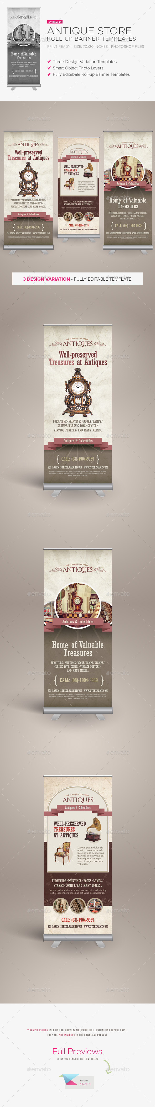 GraphicRiver Antique Store Roll-up Banners 10015458