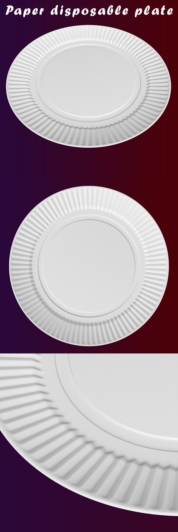 3DOcean Paper disposable plate 10015556