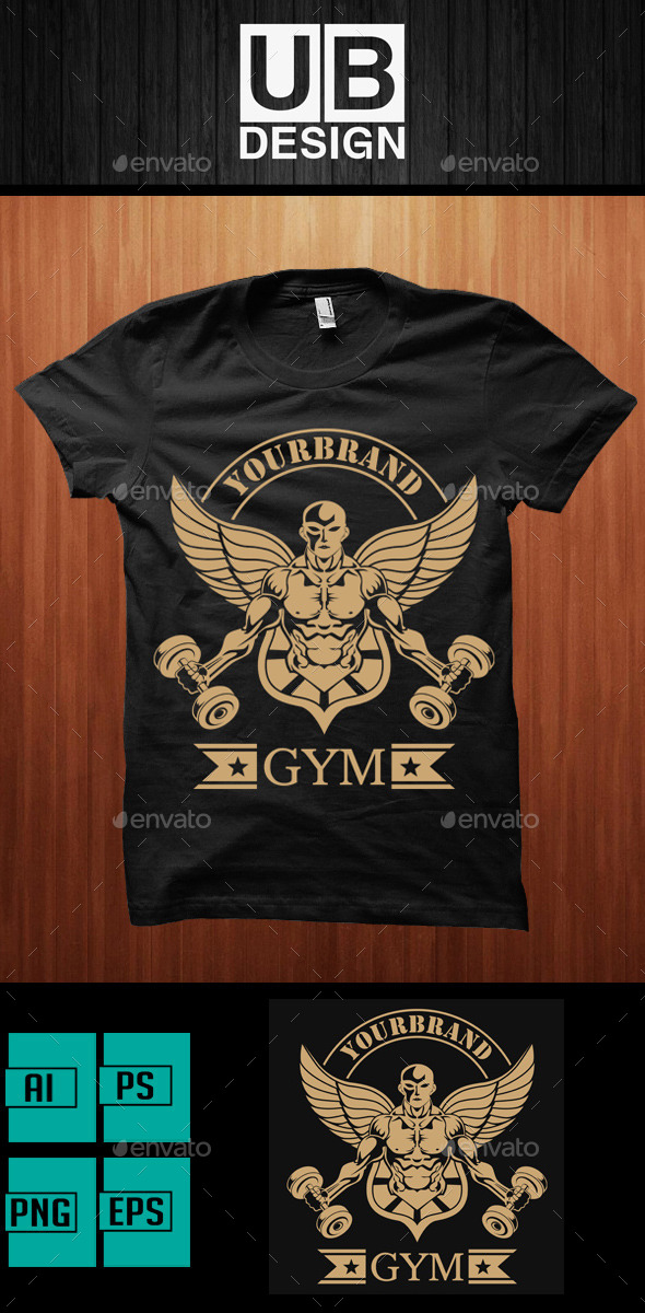 GraphicRiver Shirt Designs for Gymnastics and Bodybuilders 10015623
