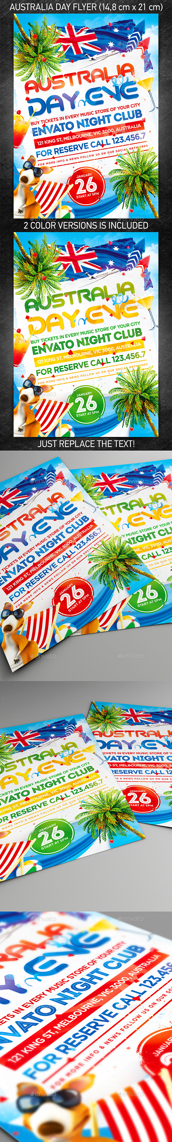 GraphicRiver Australia Day Party Flyer 10015639