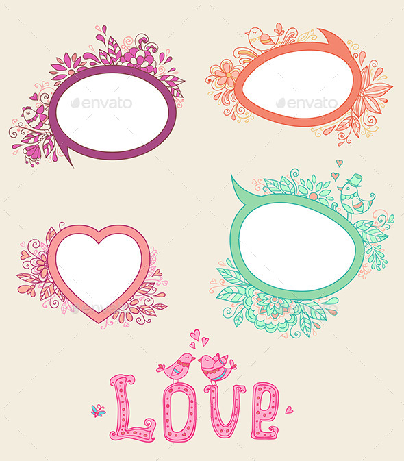 GraphicRiver Doodle Banners for Valentine s Day 10016010